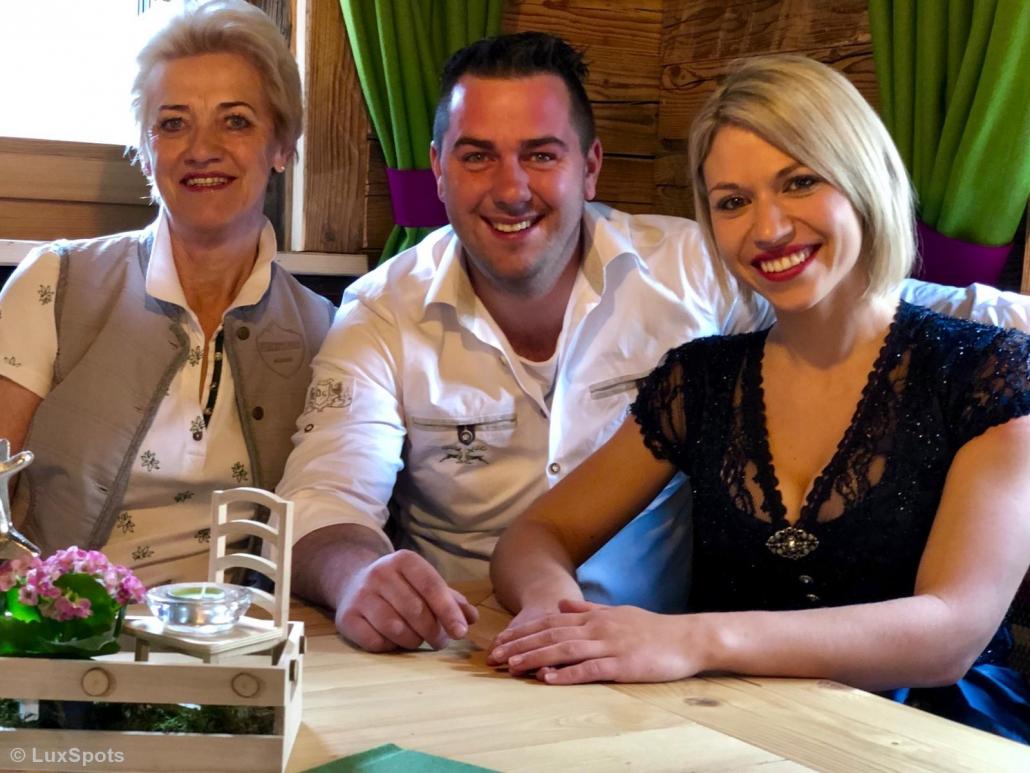 Inhaber Carina Neumann, Manuel Aster und Marianne Aster im Prechtlstadl