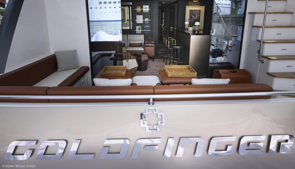 Heck der Goldfinger Yacht
