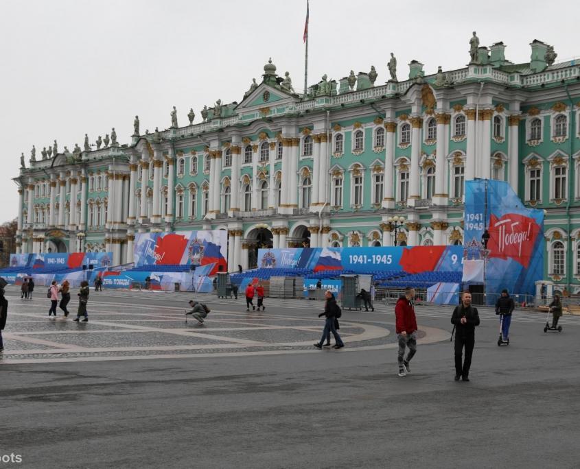 Der Winterpalast vom Schlossplatz