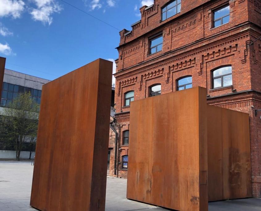 Eingang zum Kulturzentrum Sevkabel in Sankt Petersburg