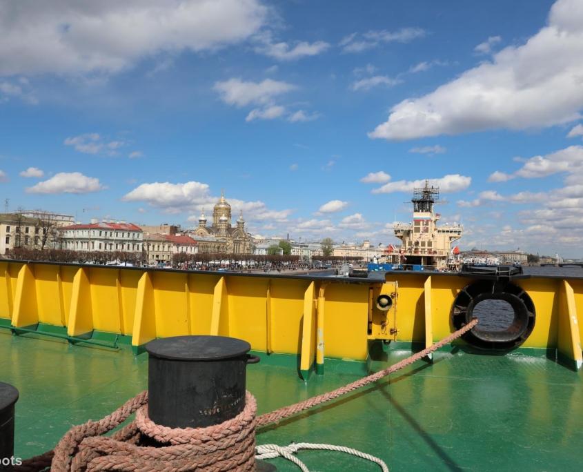 Blick vom Schiff auf Sankt Petersburg
