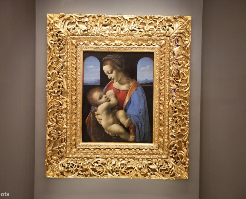 Bild der stillenden Madonna in der Eremitage