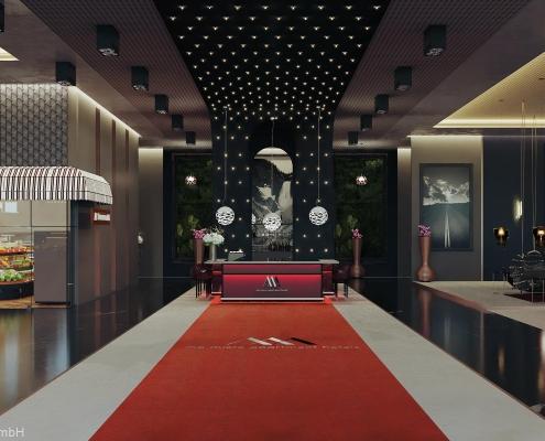 Eingangsbereich des MA Living in München
