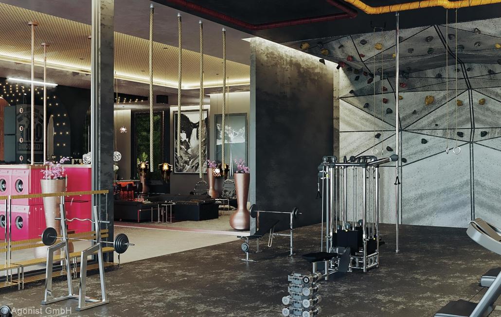 Fitnessraum im MASEVEN