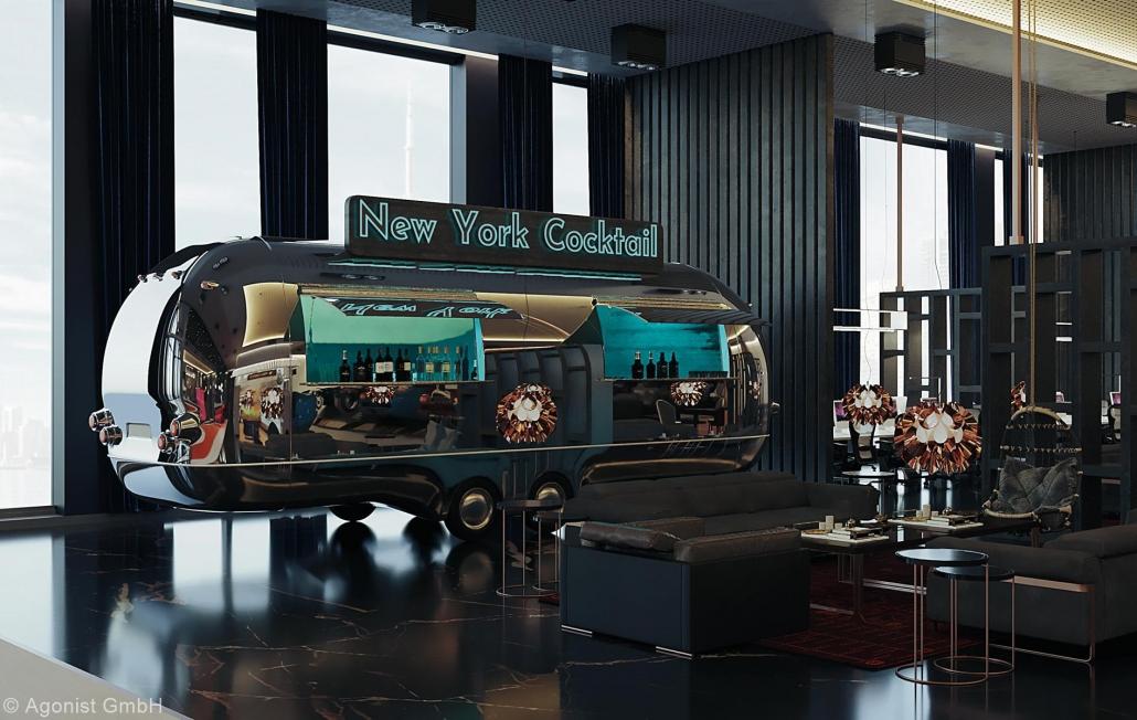 New York-Cocktailwagen des MASEVEN