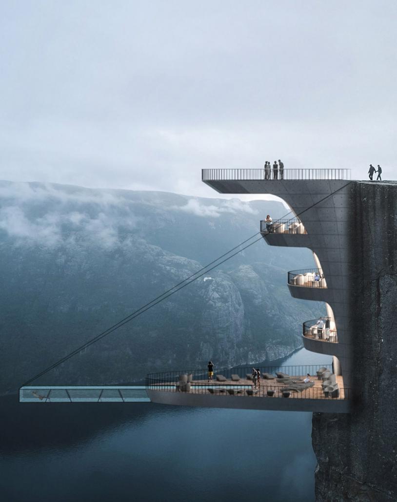Ein Hotelkonzept für den Preikestolen in Norwegen
