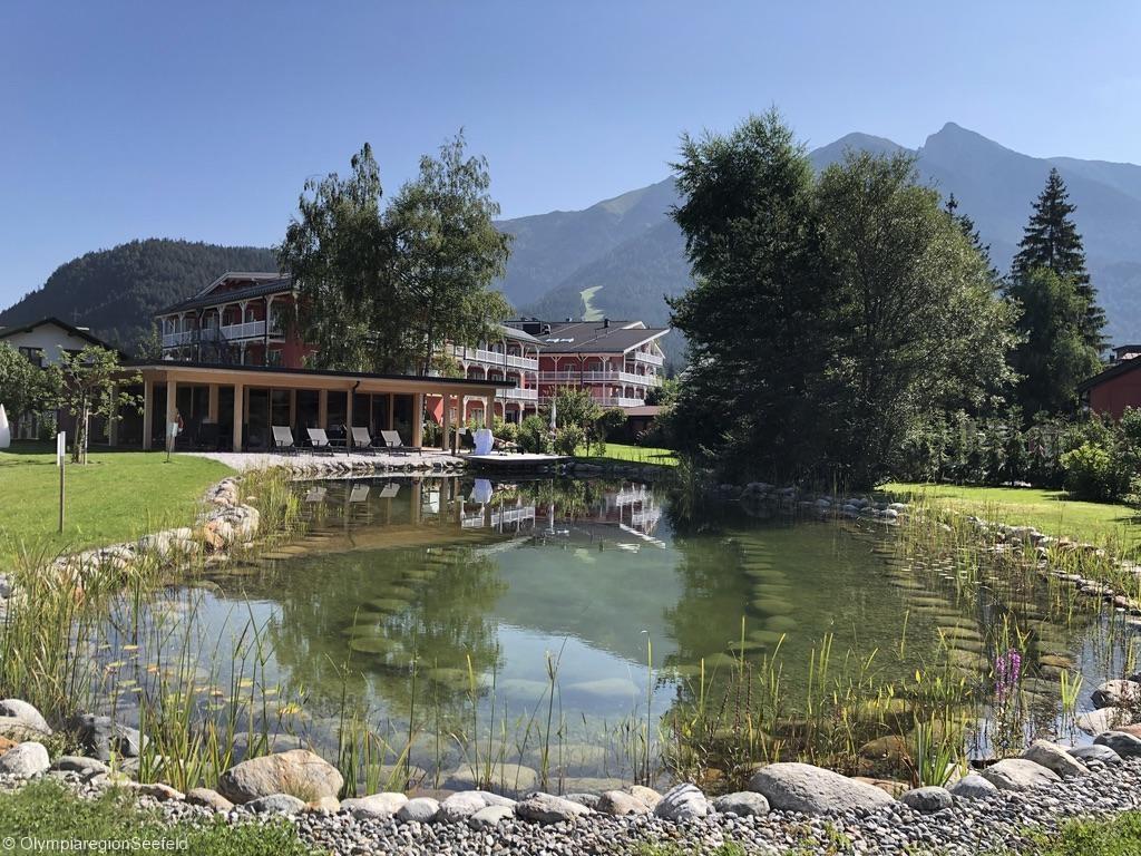 Biotop vor Hotel Eden in Seefeld